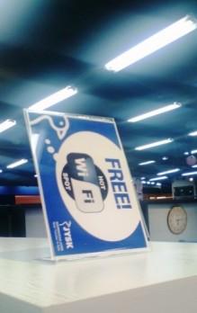 Free WiFi sodara-sodara! hahaha